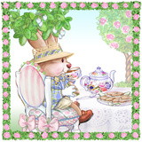 Brewster Teaberry Tea Bunny Garden Party Poster