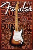 Fender Words Posters