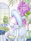 Lilac Ribbons Tea Bunny at the Petite Palm Tea Room Posters