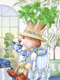 Brewster Teaberry Tea Bunny at the Petite Palm Tea Room Prints