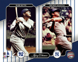 NY Yankees Legacy Collection 3 Babe Ruth & Mickey Mantle Photo
