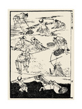 Rice Cultivation Prints by Katsushika Hokusai