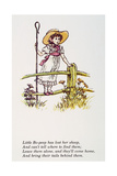Mother Goose: Bo-Peep Giclee Print by Kate Greenaway