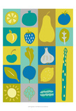 Veggie Blocks I Prints by Chariklia Zarris