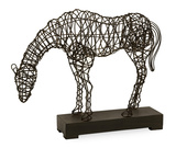 Montana Woven Wire Horse Statue Home Accessories
