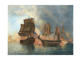 Bonhomme Richard, 1779 Giclee Print by William Elliott