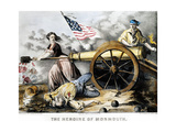 Molly Pitcher (C 1754-1832) Giclee Print by  Currier & Ives