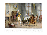 Franklin and Lafayette, 1777 Giclee Print