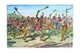 Iroquois: Lacrosse Giclee Print by C.W. Jefferys