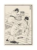 Bathhouse, C. 1836 Posters par Katsushika Hokusai