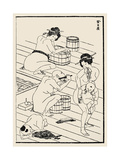 Bathhouse, C. 1836 Posters by Katsushika Hokusai