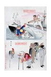 Chinese Cartoon, 1895 Giclee Print by Kiyochika Kobayashi