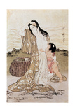 Japan: Abalone Diver Giclee Print by Kitagawa Utamaro