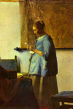 Johannes Vermeer The Letter Reader Poster Posters
