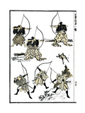 Six Samurai, 1817 Poster von Katsushika Hokusai
