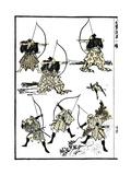 Six Samurai, 1817 Posters by Katsushika Hokusai