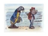 Looking Glass Giclee Print by John Tenniel
