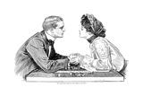 Chess Game, 1903 Giclee Print by Charles Dana Gibson
