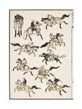 Samurai, 1817 Premium Giclee Print by Katsushika Hokusai