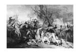 Battle of Princeton, 1777 Giclee Print by John Trumbull
