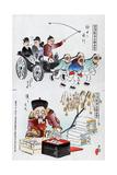 Japanese Cartoon, 1895 Giclee Print by Kiyochika Kobayashi