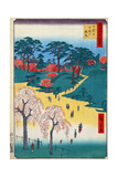 Japan: Temple Gardens Giclee Print by Ando Hiroshige