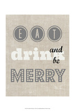 Eat Drink & Be Merry II Art by Amy Lighthall