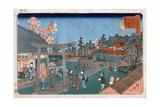 Japan: Hachiman Shrine, 1853 Giclee Print by Kuniteru Utagawa