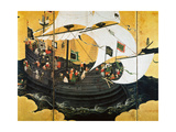 Portuguese Galleon Giclee Print by Kano Naizen