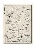 Snow-Laden Trees Prints by Katsushika Hokusai