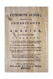 Paine: Common Sense, 1776 Giclee Print