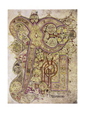 Book of Kells: Christ Page Giclee Print