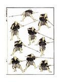 Samurai at Spear-Drill, 1817 Prints by Katsushika Hokusai