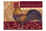 Rustic Roosters II Prints by Theresa Kasun