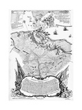 Yorktown: Map, 1781 Giclee Print by Sebastian Bauman