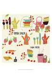 Hip Kitchen II Posters by Amy Lighthall
