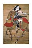 Mounted Samurai Giclee Print