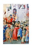 Carrying the Cross Giclée-tryk af Simone Martini