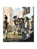 British Army, 1770s Print