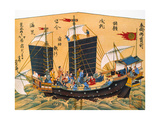 Japanese Red Seal Ship Giclee Print