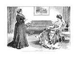 A Careful Daughter Prints by Charles Dana Gibson