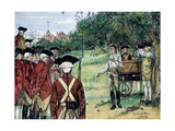 Execution of Nathan Hale by the British in New York on September 22, 1776 Giclee Print by Howard Pyle