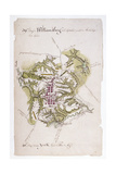 Williamsburg: Map, 1781 Giclee Print by Louis Alexandre Bertheir