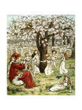 Browning: Pied Piper Print by Kate Greenaway