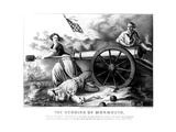 Molly Pitcher (1754-1832) Giclee Print by  Currier & Ives