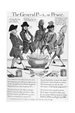 Treaty of Paris Cartoon Giclee Print