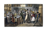 London: Bar Room, 1821 Giclee Print by George Cruikshank