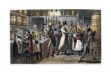 London: Bar Room, 1821 Giclee Print by George Cruikshank
