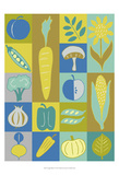 Veggie Blocks II Prints by Chariklia Zarris