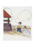 Jack and Jill Giclee Print by Blanche Fisher Wright